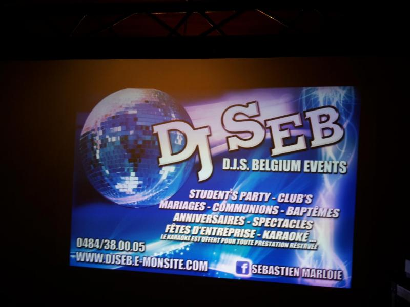 Ecran projection dj seb d j s belgium events 3